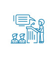 business conference linear icon concept business vector image