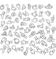 Cartoon Hands Pack Lineart 1 vector image vector image