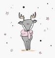 childish deer cute cartoon sketch nursery print vector image vector image