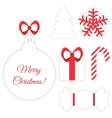 Christmas symbols isolated on white vector image vector image