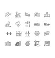 city line icons signs set outline vector image vector image
