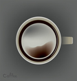 coffee cup top view vector image vector image