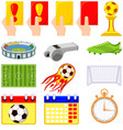 colorful cartoon soccer championship 14 elements vector image