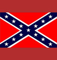 confederate flag vector image vector image