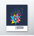 cover annual report flower triangle paper music vector image vector image