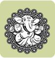 creative hindu lord ganesha vector image