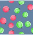 cute christmas balls seamless pattern vector image vector image