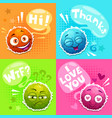 cute posters with funny characters vector image