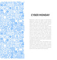 cyber monday line pattern concept vector image vector image