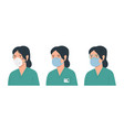 doctor woman with antivirus protection medical vector image