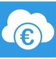 Euro Cloud Banking Icon vector image