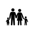 family black silhouette icon vector image
