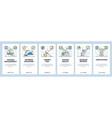 finance website and mobile app onboarding screens vector image