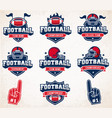 football logos and insignias vector image vector image