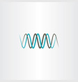 frequency wavelength logo symbol vector image