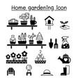 gardening icons set graphic design vector image