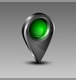 geolocation green icon vector image