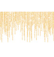 golden glitter sparkle on a transparent vector image