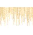 golden glitter sparkle on a transparent vector image vector image