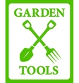 green background with tools for gardening work vector image vector image