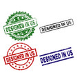 grunge textured designed in us seal stamps vector image