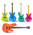 Guitars and Bass Guitars Set Abstract Musical vector image vector image