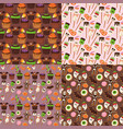 halloween cookie seamless pattern background food vector image