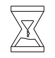 isolated sand hourglass icon design vector image