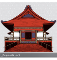 japanese temple vector image vector image