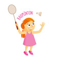 kinds of sports athlete badminton vector image vector image