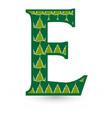 letter e christmas festive font icon vector image vector image