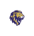 lion head esport gaming logo vector image vector image