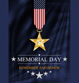 memorial day card over blue background vector image vector image
