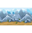 Mountains Game Background vector image