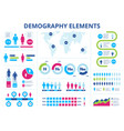 population infographic men and women demographic vector image vector image
