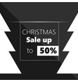 poster for christmas sale background vector image