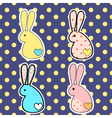 rabbitsdots vector image vector image
