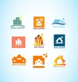 Real estate house logo icon set vector image