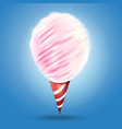 realistic cotton candy vector image vector image