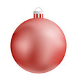 red christmas ball icon realistic style vector image
