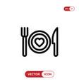 romantic dinner icon vector image vector image