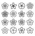 sakura icons isolated on a white background vector image