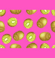 seamless pattern with kiwi and slices vector image