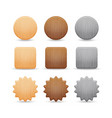 set of wooden buttons vector image vector image