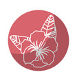 sticker beautiful flower plants with petals and vector image vector image