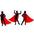 superheroes girl silhouette vector image