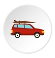 Surfboard car icon flat style vector image vector image