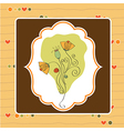 thank you greeting card with flower vector image vector image