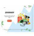 travel agency website homepage design vector image vector image
