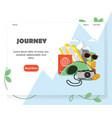 travel agency website homepage design vector image